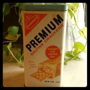 "Vintage Nabisco Premium Saltine Crackers Tin 9.5"""